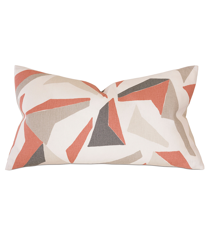 Sconset Salmon Decorative Pillow - ,