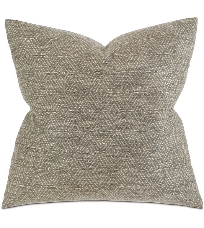 Daffin Umber - PILLOW,SOLID PILLOW,SQUARE PILLOW,TONE ON TONE ACCENT PILLOW,THROW PILLOW,FEATHER PILLOW,HARLEQUIN PILLOW PATTERN,ZIPPER CLOSURE PILLOW,ACCENT PILLOW,KNIFE EDGE TRIM PILLOW