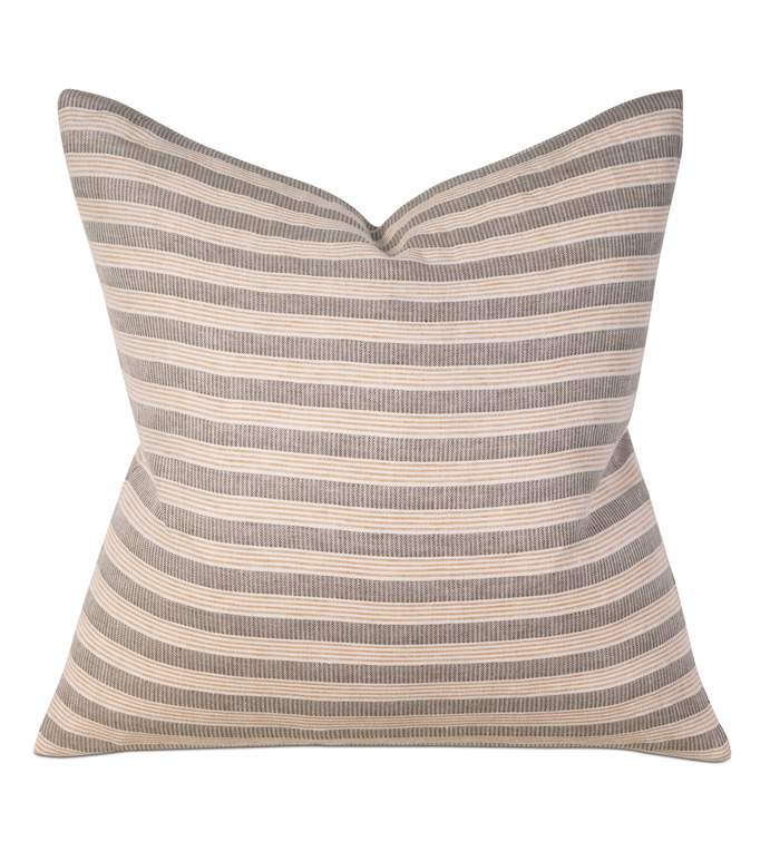 Jules Amber Square - PILLOW,STRIPE PILLOW,CASUAL SQUARE PILLOW,LINEN ACCENT PILLOW,THROW PILLOW,FEATHER PILLOW,LINEN STRIPE PILLOW PATTERN,ZIPPER CLOSURE PILLOW,ACCENT PILLOW,KNIFE EDGE TRIM PILLOW