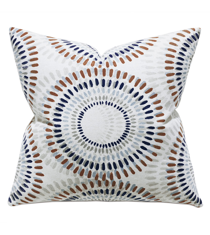 Filmore Geometric Decorative Pillow - ACCENT PILLOW,THROW PILLOW,THOM FILICIA,EASTERN ACCENTS,MULTICOLORED,CONTEMPORARY,TEXTURED,GEOMETRIC,LUXURY,LUXURY BEDDING,GEOMETRIC PATTERN,CIRCLE PATTERN,BLUE,NEUTRAL,MODERN,