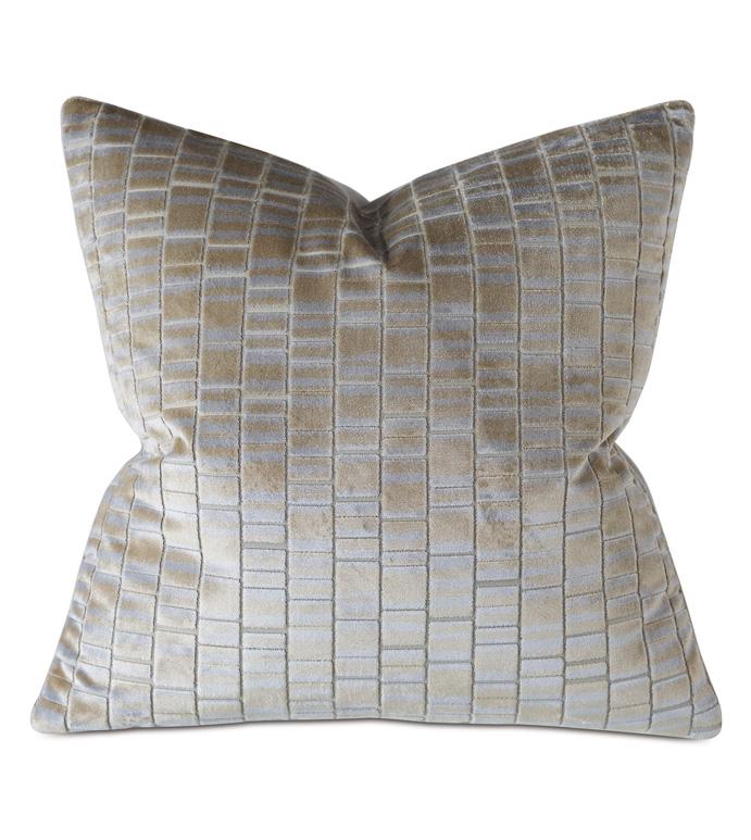 Artemis Cut-Velvet Decorative Pillow - THOM FILICIA,DESIGNER,VELVET,GEOMETRIC,METALLIC,GOLD,SILVER,DECORATIVE PILLOW,THROW PILLOW,ACCENT PILLOW,PILLOW,HOME DÉCOR,LUXURY BEDDING,LUXURY