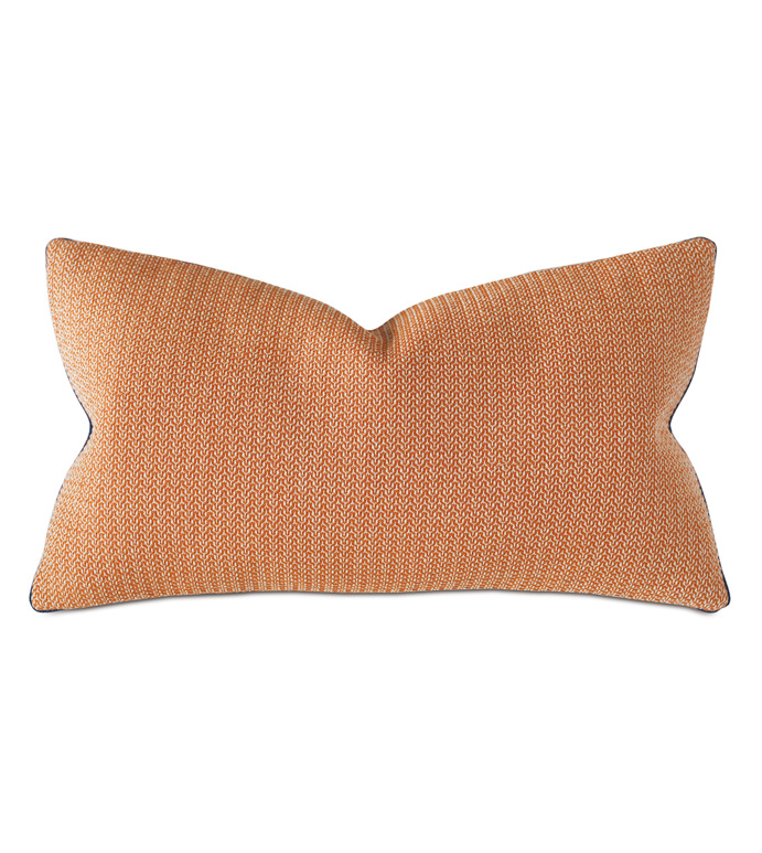 Lodi Textured Decorative Pillow - THOM FILICIA,ORANGE,BLUE,ORANGE AND BLUE,PILLOW,THROW PILLOW,DECORATIVE PILLOW,ACCENT,15X26,ORANGE AND BLUE PILLOW,LUXURY BEDDING