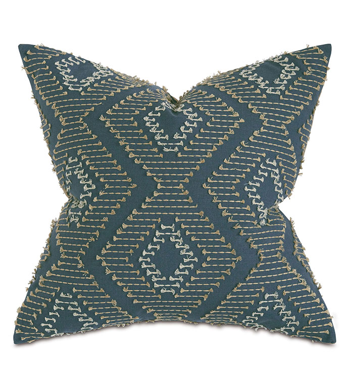 Trillium Diamond Fil Coupe Decorative Pillow - ,EMBROIDERY,EARTH TONES,TAUPE,GRAY PILLOW, GOLD, EMBROIDERED PILLOW,DIAMOND EMBROIDERY,FIL COUPE,MUSTARD PULLOW,EARTHY PILLOW,LUXURY BEDDING,