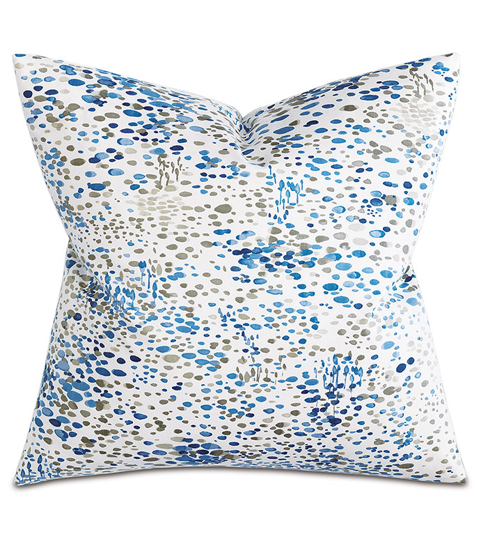 Dresden Sapphire Square - PILLOW,ABSTRACT PILLOW,SQUARE PILLOW,TOSS CUSHION,THROW PILLOW,ACCENT PILLOW,PRINTED COVERED PILLOW,KNIFE EDGE TRIM FINISHING PILLOW,DECORATIVE PILLOW,ACCCENT PILLOW, UNISEX PILLOW