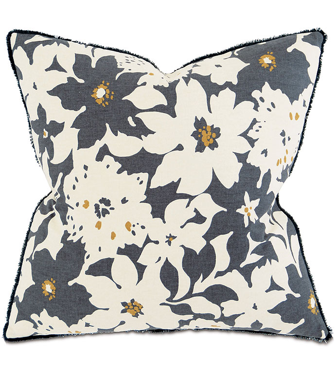 Henning Slate - PILLOW,STRIPE PILLOW,SQUARE PILLOW,PRINTED ACCENT PILLOW,THROW PILLOW,FEATHER PILLOW,PRINTED PILLOW PATTERN,ZIPPER CLOSURE PILLOW,ACCENT PILLOW,BRUSH FRINGE EDGE,FLOWER PILLOW