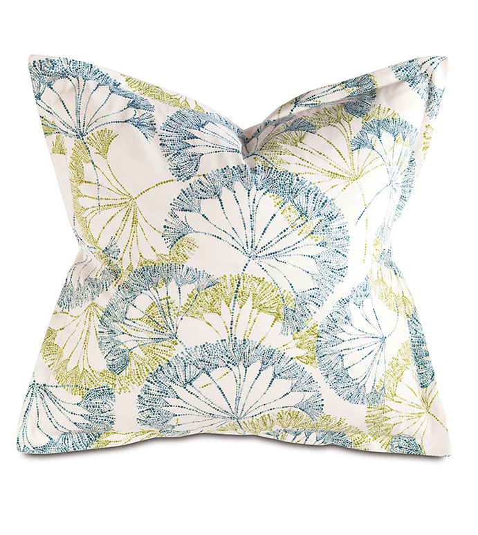 Bolina Bluegrass Square - PILLOW,CONTEMPORARY PILLOW,SQUARE PILLOW,BLUE ACCENT PILLOW,THROW PILLOW,FEATHER PILLOW,PRINTED PILLOW PATTERN,ZIPPER CLOSURE PILLOW,BLUE GREEN ACCENT PILLOW,TROPICAL PILLOW