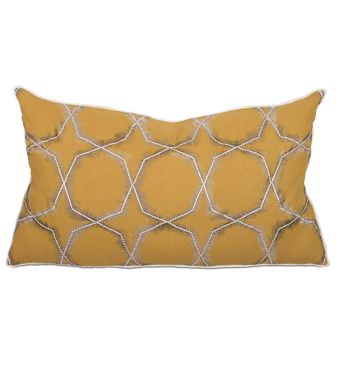 Nico Citron King Sham - PILLOW,THROW PILLOW,CONTEMPORARY PILLOW,RECTANGLE PILLOW,DECORATIVE PILLOW,KING SHAM PILLOW,KING SHAM ACCENT PILLOW,FEATHER PILLOW,ZIPPER CLOSURE PILLOW,GEO PILLOW COVER