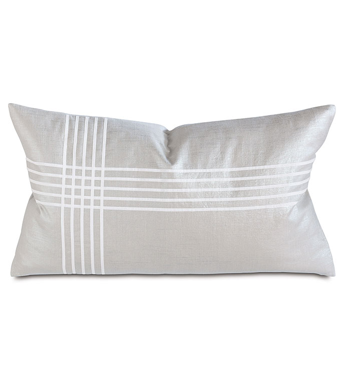 Reflection Frost Left King Sham - PILLOW,METALLIC PILLOW,RECTAGANGLE PILLOW,ACCENT PILLOW,THROW PILLOW,FEATHER PILLOW,UNISEX PILLOW,STRIPED PILLOW,ZIPPER CLOSURE PILLOW,ACCENT PILLOW,KNIFE EDGE TRIM PILLOW