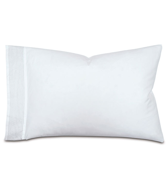 Marsden Dove Pillowcase - pillowcase,dove pillowcase,sheeting,fine linens,bedding,luxury sheets,high-end sheets,high-quality sheets,200 thread count,percale cases,Egyptian cotton pillow cases