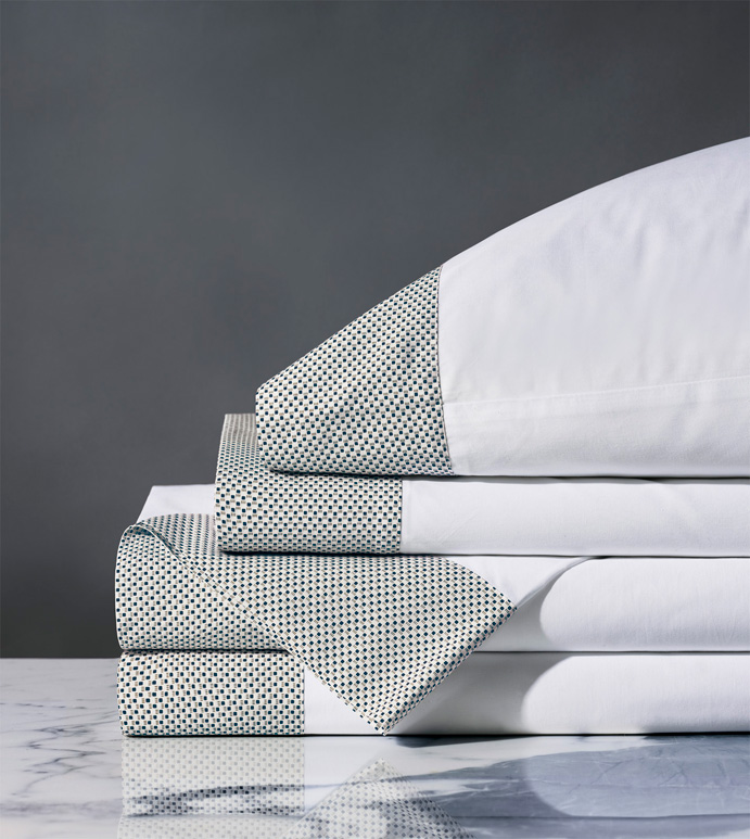 Kinsley Dotted Sheet Set - THOM FILICIA,FINE LINENS,SHEET SET,SHEETS,SHEETING,FLAT SHEET,FITTED SHEET,PILLOWCASE,POLKA-DOTS,DOTTED,PATTERNED,GRAPHIC,PRINT,PERCALE