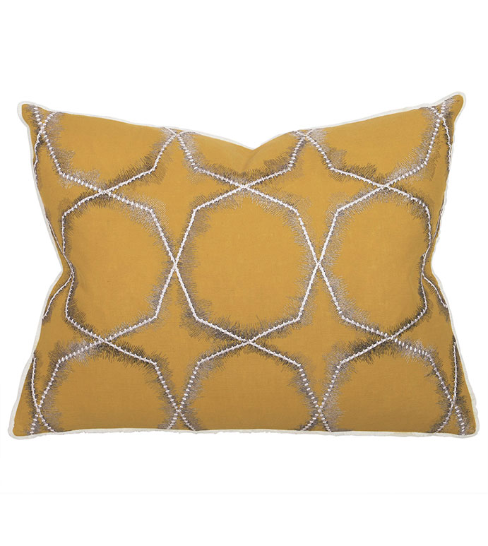 Nico Citron Standard Sham - PILLOW,CONTEMPORARY PILLOW,STANDARD SHAM,GEOMETRIC PILLOW,RECTANGLE PILLOW,THROW PILLOW,ACCENT PILLOW,DEORATIVE PILLOW,FEATHER PILLOW,UNISEX PILLOW,ZIPPER CLOSURE PILLOW