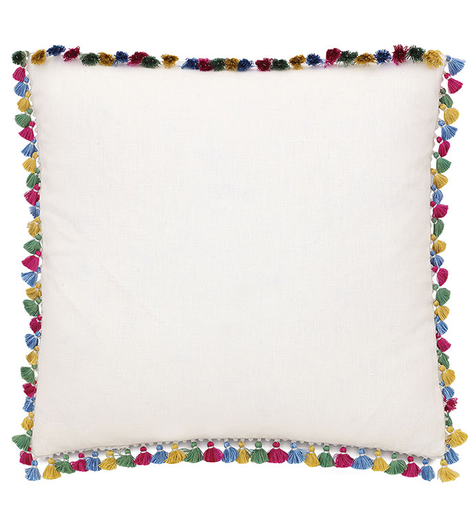 Breeze Shell With Tassel Trims - ,
