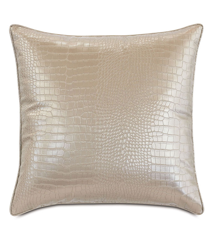 Valentina Faux Snakeskin Decorative Pillow - ,DECORATIVE PILLOW,DECOR, PILLOW,METALLIC,METALLIC PILLOW,FAUX SNAKESKIN,LUXURY DECOR,METALLIC VINYL,METALLIC GOLD,GOLD PILLOW,GLAM,SNAKESKIN PILLOW,