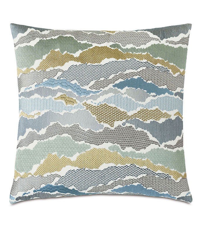 Zephyr Embroidered Decorative Pillow