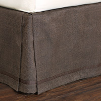 Walden Bark Bed Skirt