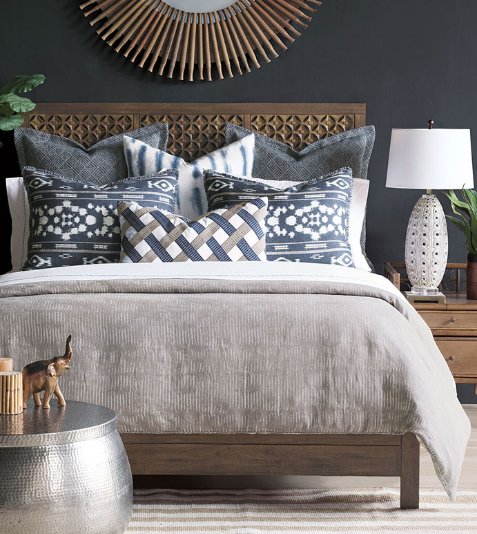 Saya - ,coastal decor,luxury bedding,hand painted pillow,ikat pattern,ikat pillow,luxury pillow,nautical bedding,blue bedding,coastal home,