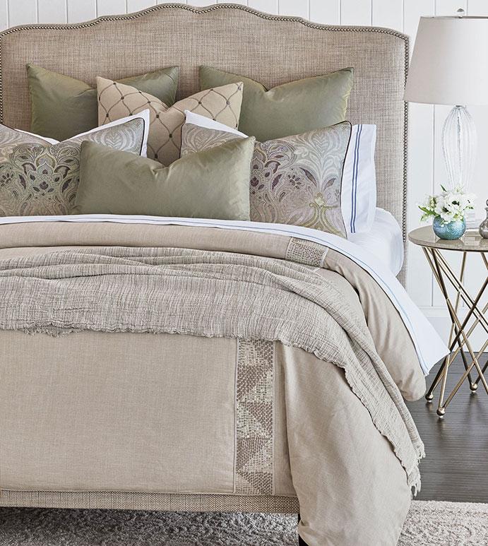 Dasha - ,glamorous bedding,sequined duvet cover,sequined duvet,metallic bedding,metallic pillow,damask pillow,damask pattern,damask print,purple damask,glam bedding,traditional bedding,refined traditional,