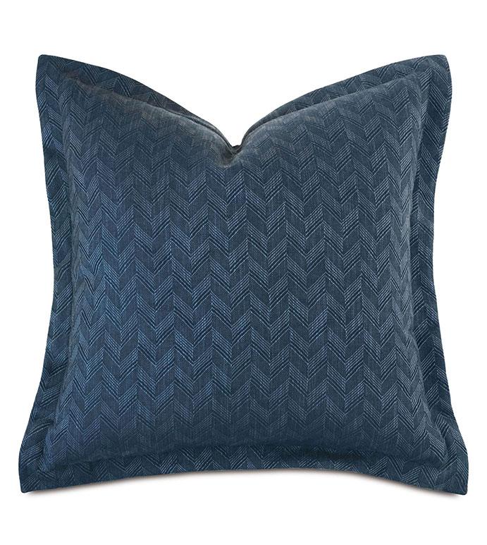 Claire Chevron Euro Sham - ,27x27 pillow,euro sham pillow,chevron pillow,blue pillow,navy pillow,striped pillow,nautical pillow,navy euro sham,blue euro sham,chevron euro sham,striped euro sham,