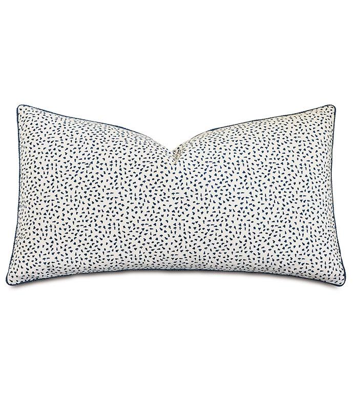 Claire Speckled King Sham - ,king sham pillow,100% cotton king sham,white king sham,navy king sham,speckled print,navy bedding,cotton bedding,luxury king sham,alexa hampton,designer bedding,