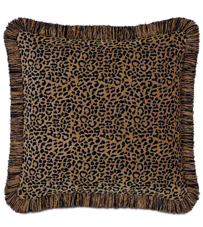 Congo Black & Gold Pillow A - ,