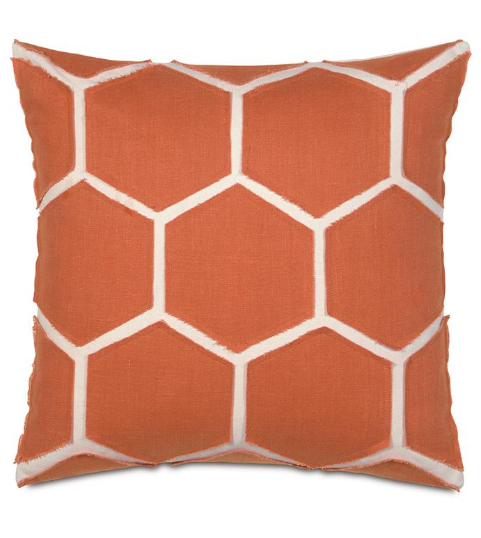 Breeze Tangerine Accent Pillow - ,