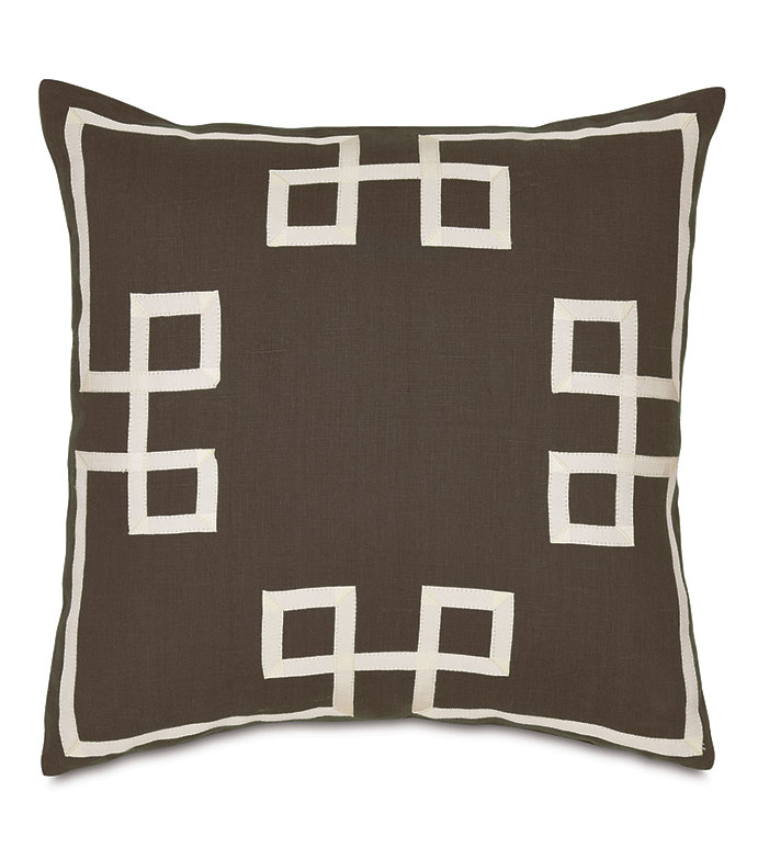Resort Clay Fret Accent Pillow - ,