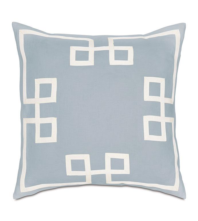 Resort Sky Fret Accent Pillow - ,