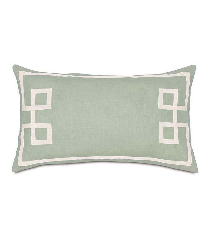 Resort Mint Fret Accent Pillow - ,