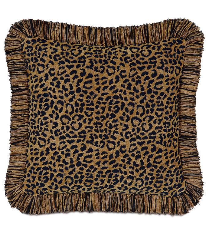 Congo Black & Gold Pillow C - ,