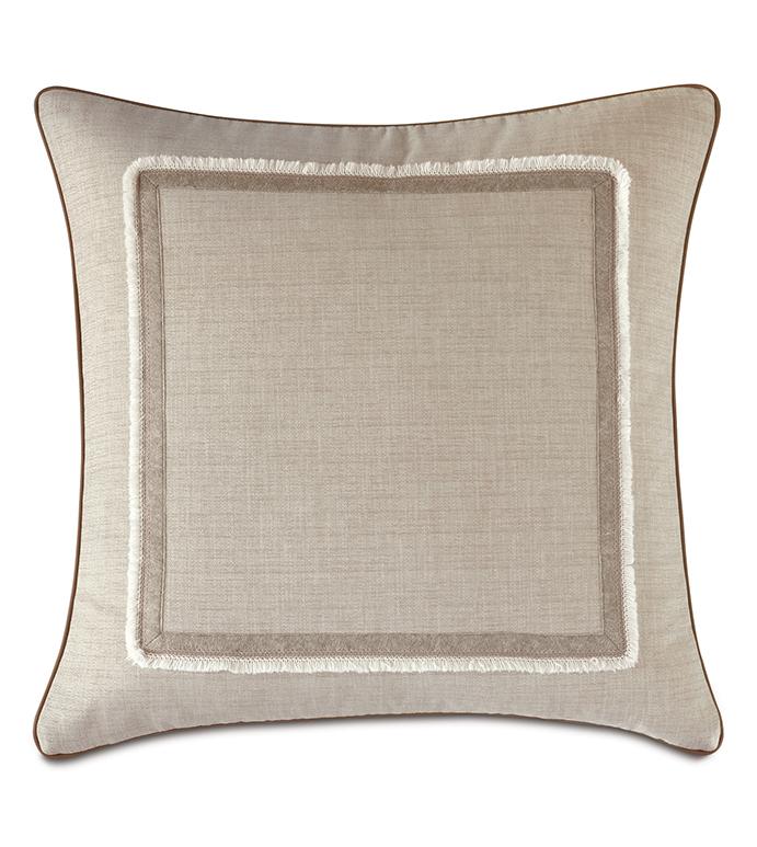 Aldrich Brush Fringe Decorative Pillow