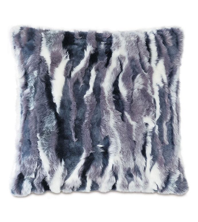 Tabitha Faux Fur Decorative Pillow - FUR PILLOW, FAUX FUR, GLAMOROUS PILLOW, FUR DECORATIVE PILLOW,PURPLE PILLOW, PURPLE FUR, PURPLE DECORATIVE PILLOW,MULTICOLORED FUR,FAUX FUR PILLOW, BLUE FUR,BLUE PILLOW