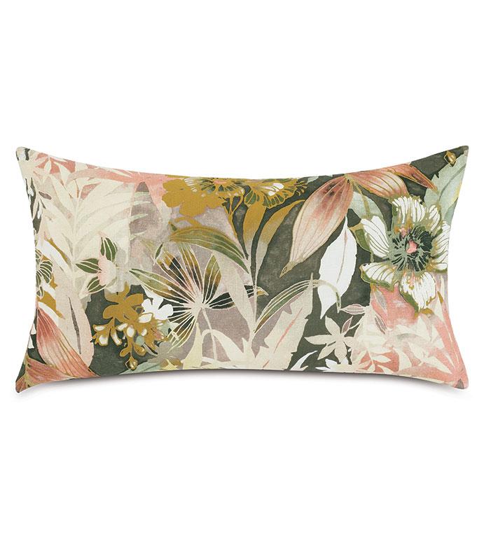 Felicity Floral Decorative Pillow - ,15X26 PILLOW,FLORAL PILLOW,TROPICAL PILLOW,TAUPE PILLOW,BLUSH PILLOW,BOTANICAL PILLOW,BOTANICAL PRINT,FLORAL PRINT,BOHEMIAN PILLOW,FLORAL DECOR,