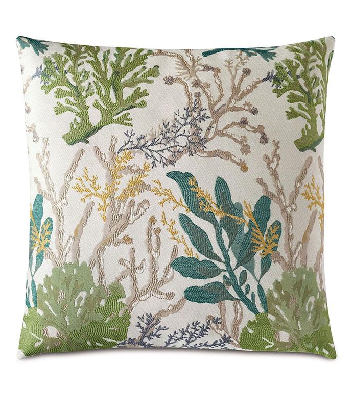 Corraline Coral Reef Decorative Pillow