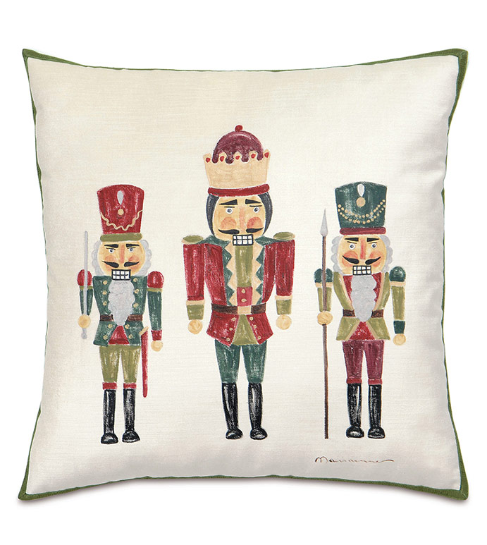 Nutcracker Handpainted Decorative Pillow - ,