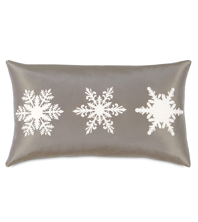 Dreamsicle Snowflakes Decorative Pillow - ,