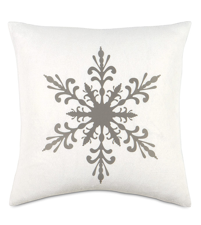 Snowflake Lasercut Decorative Pillow - ,