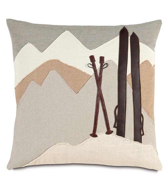 Lodge Mountains Decorative Pillow - ,LODGE DECOR,LODGE PILLOW,MOUNTAIN DECOR,SKI PILLOW,SKI DECOR,SKIING DECOR,LUXURY LODGE,LUXURY PILLOW,LUXURY MOUNTAIN DECOR,RUSTIC PILLOW,RUSTIC DECOR,