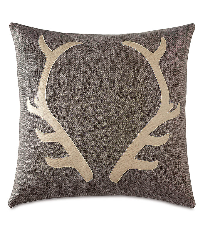 Lodge Antlers Decorative Pillow - ,ANTLERS PILLOW,ANTLERS DECOR,DEER DECOR,HUNTING DECOR,HUNTING PILLOW,LODGE PILLOW,LODGE DECOR,MOUNTAIN DECOR,LUXURY LODGE,DEER ANTLERS,RUSTIC PILLOW,RUSTIC DECOR,