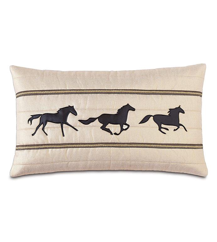 Morvich Gallop Decorative Pillow - ,HORSE RACING,GALLOP,EQUESTRIAN DECOR,EQUESTRIAN PILLOW,HORSE RACING,KENTUCKY DERBY,DERBY DECOR,TRADITIONAL HOME,EQUESTRIAN HOME,HORSE PILLOW,HORSE GALLOP,