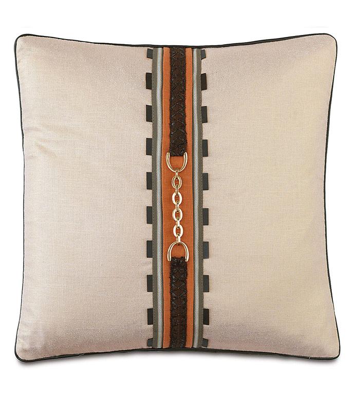 Morvich Buckle Decorative Pillow - ,