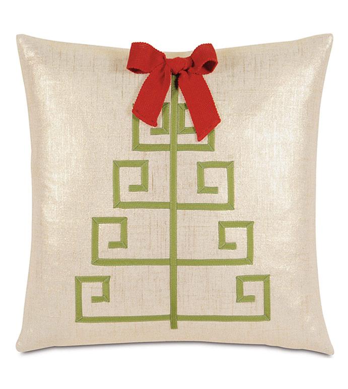 Lilly Tree Decorative Pillow - ,CHRISTMAS TREE,CHRISTMAS DECOR,CHRSISTMAS PILLOW,METALLIC PILLOW,GLAM HOLIDAY DECOR,GLAM HOLIDAY PILLOW,GOLD PILLOW,CHRISTMAS TREE PILLOW,HOLIDAY DECORATIONS,CHRISTMAS DECORATION,