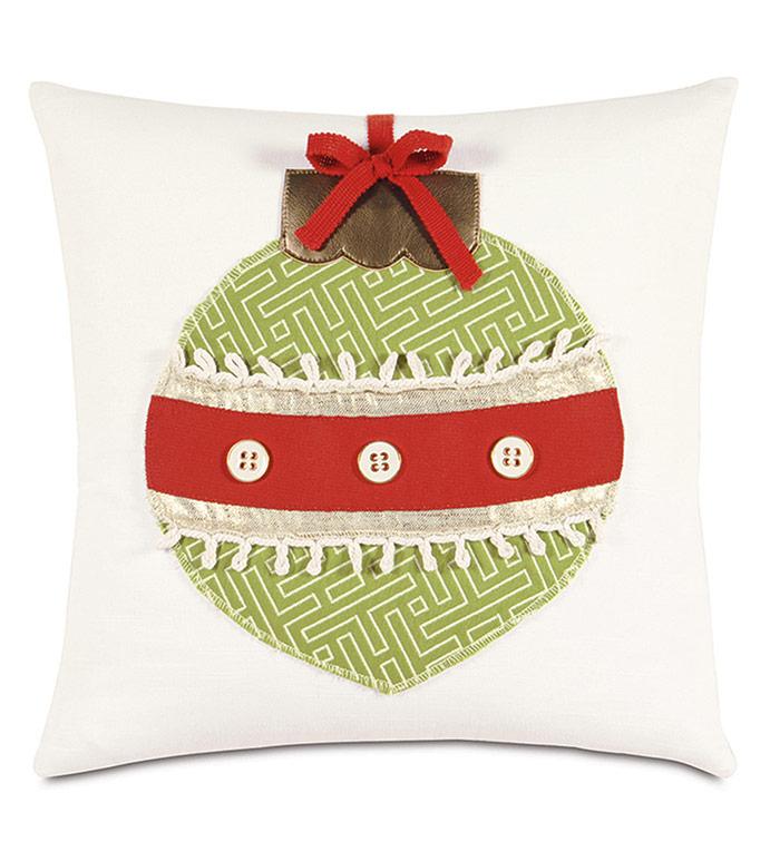 Ornament Lasercut Decorative Pillow - ,CHRISTMAS ORNAMENTS,ORNAMENT PILLOW,FESTIVE PILLOW,FESTIVE DECOR,CHRISTMAS DECORATIONS,CHRISTMAS DECOR,CHRISTMAS PILLOW,ORNAMENTS DECOR,HOLIDAY DECOR,HOLIDAY PILLOW,