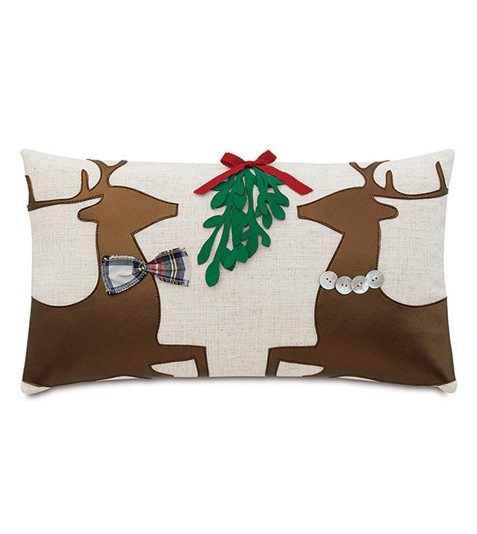 Prancer Applique Decorative Pillow - ,