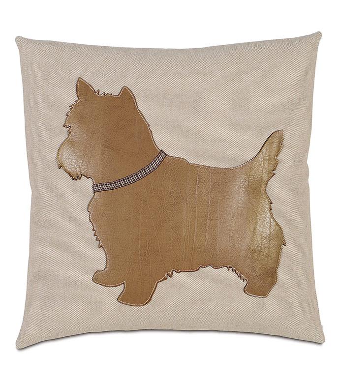 Terrier Applique Decorative Pillow - ,YORKSHIRE TERRIER,TERRIER DOG,TERRIER PILLOW,TERRIER DECOR,DOG PILLOW,PET PILLOW,PET DECOR,TERRIER THROW PILLOW,DOG LOVER DECOR,TERRIER DECORATIONS,