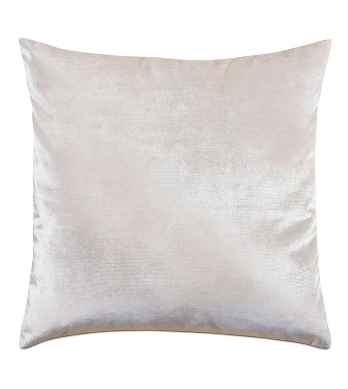 Geode Velvet Decorative Pillow in Snow - ,22X22 VELVET PILLOW,LUSTER VELVET,SHINY VELVET,WHITE VELVET,VELVET PILLOW,LUXURY VELVET,LUXURY PILLOW,VELVET DECOR,METALLIC VELVET,IVORY VELVET,IVORY PILLOW,WHITE PILLOW,