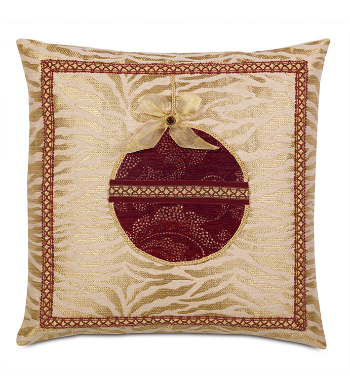 Noel Ornament Decorative Pillow in Gold - ,GOLD PILLOW,CHRISTMAS PILLOW,CHRISTMAS DECOR,CHRISTMAS ORNAMENTS,ORNAMENT PILLOW,HOLIDAY DECOR,HOLIDAY PILLOW,XMAS PILLOW,GLAM CHRITMAS,LUXURY CHRISTMAS,