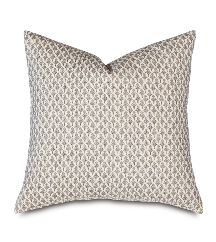 Brentwood Print Decorative Pillow - BARCLAY BUTERA,DECORATIVE PILLOW,PILLOW,THROW PILLOW,ACCENT PILLOW,PRINT,PATTERNED,TRADITIONAL,BOHO,EXOTIC,ETHNIC,ECLECTIC,GLOBAL,22X22,SQUARE