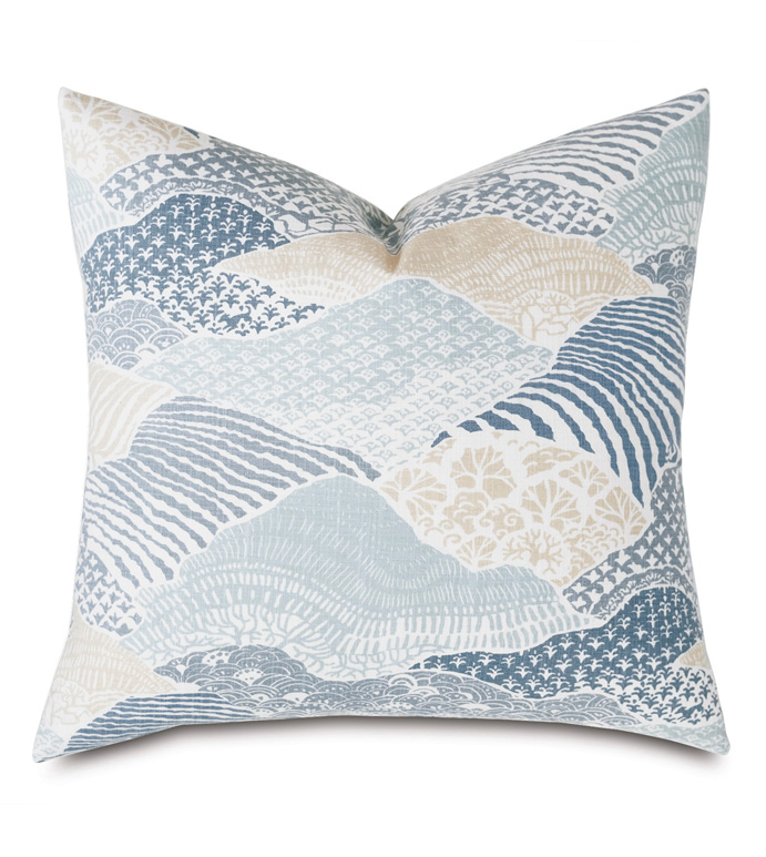 Brentwood Abstract Decorative Pillow - BARCLAY BUTERA,COASTAL,NAUTICAL,MARITIME,BLUE,SPA,COLLAGE,DECORATIVE PILLOW,PILLOW,THROW PILLOW,ACCENT PILLOW,22X22,SQUARE