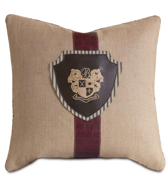 Rustique Wheat With Embroidered Crest - ,