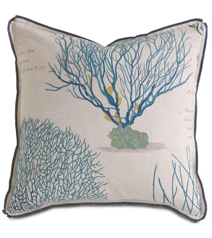 Astern Aqua Dec Pillow - ,